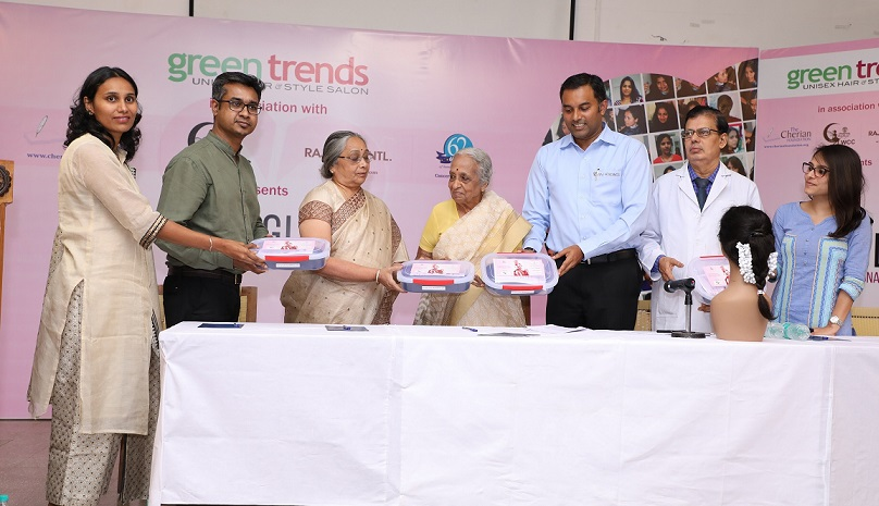 250 Wigs Donated to Adyar Cancer Institute