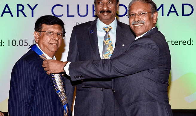 P.N Mohan, President Rotary Club of Madras