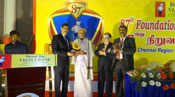 social worker Palam Kalyanasundram honoured