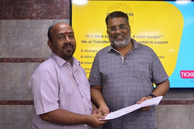 TicketNew.com supports nine NGOs with quality food