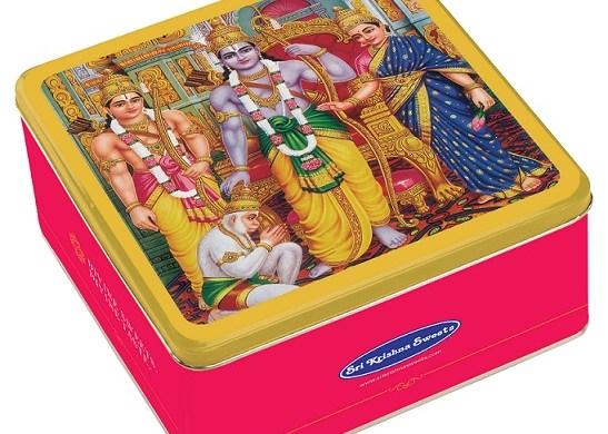 SRI KRISHNA SWEETS DIWALI BAKSHANAM SPECIAL TIN BOX