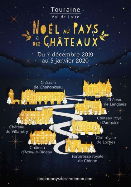 Noël au pays des châteaux Chenonceau