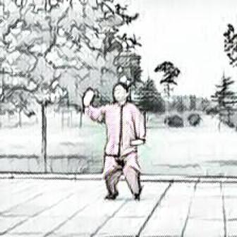 La maestra Chen Peiju esegue la posizione Xubu