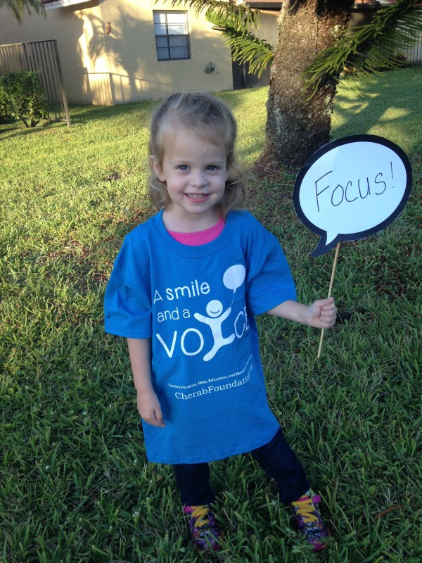 Isabella, age 2.5 Proud Cherab Foundation supporter!