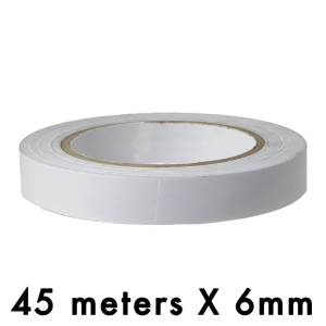 "Double Side Tissue Tape - 06mm / 0.25"" Width - 45 Meters in Length"