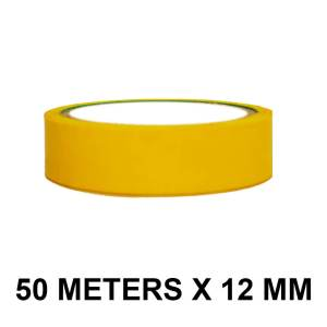 "Yellow Color Tape - 12mm / 0.5"" Width - 50 Meters in Length"