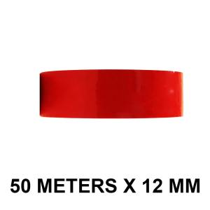 "White Color Tape - 12mm / 0.5"" Width - 50 Meters in Length"