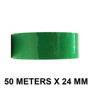 "Green Color Tape - 24mm / 1"" Width - 50 Meters in Length"