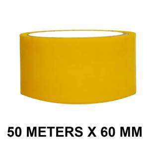 "Yellow Color Tape - 60mm / 2.5"" Width - 50 Meters in Length"