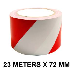 """Red And White Floor Marking Tape - 72mm / 03"""" Width"""