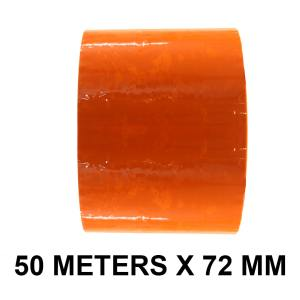 "Orange Color Tape - 72mm / 03"" Width - 50 Meters in Length"