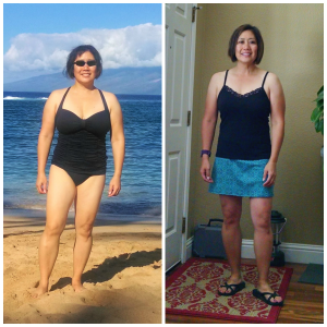 The photo on the left was taken in Maui a little over 2 years ago.  The photo on the right is what I look like now.