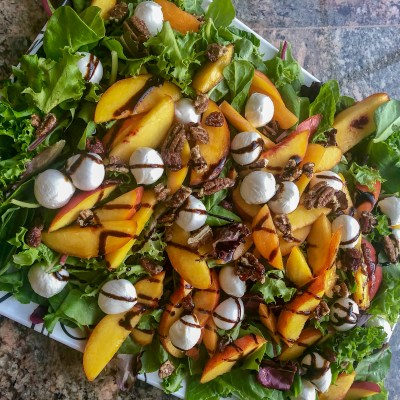 Stone Fruit Salad with Balsamic Vinaigrette