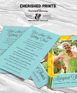 Daffodils Prayer Card