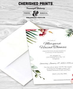 Tropical Flowers invitation