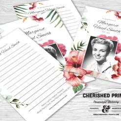 Tropical Flowers Memory Card