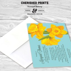 Daffodils Thank You Card