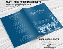 ridge Funeral Program Booklet