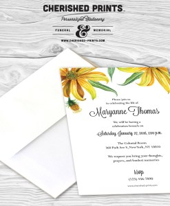 Daisy Celebration of Life Invitation