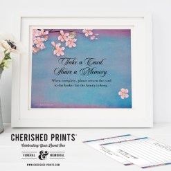 Share a Memory Card Signs Instant Download in PDF and JPG 8 x 10