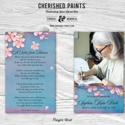 Cherry Blossoms Prayer Card