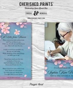 Cherry Blossoms Prayer Card