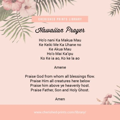 Hawaiian Prayer Cherished Prints Library