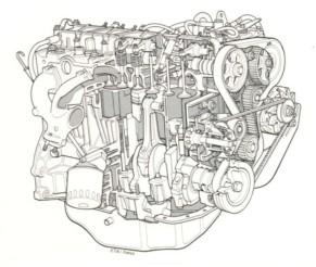 Moteur Renault 2.1 L diesel 1982-1987