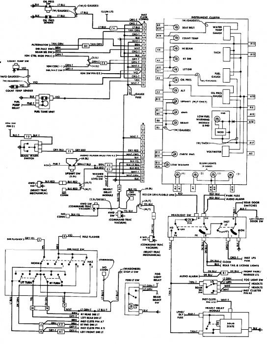 1991 jeep cherokee xj wiring diagram  schematic wiring