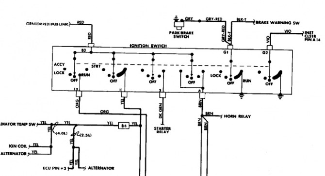 wiring schematic for 1990 cherokee ignition switch  jeep