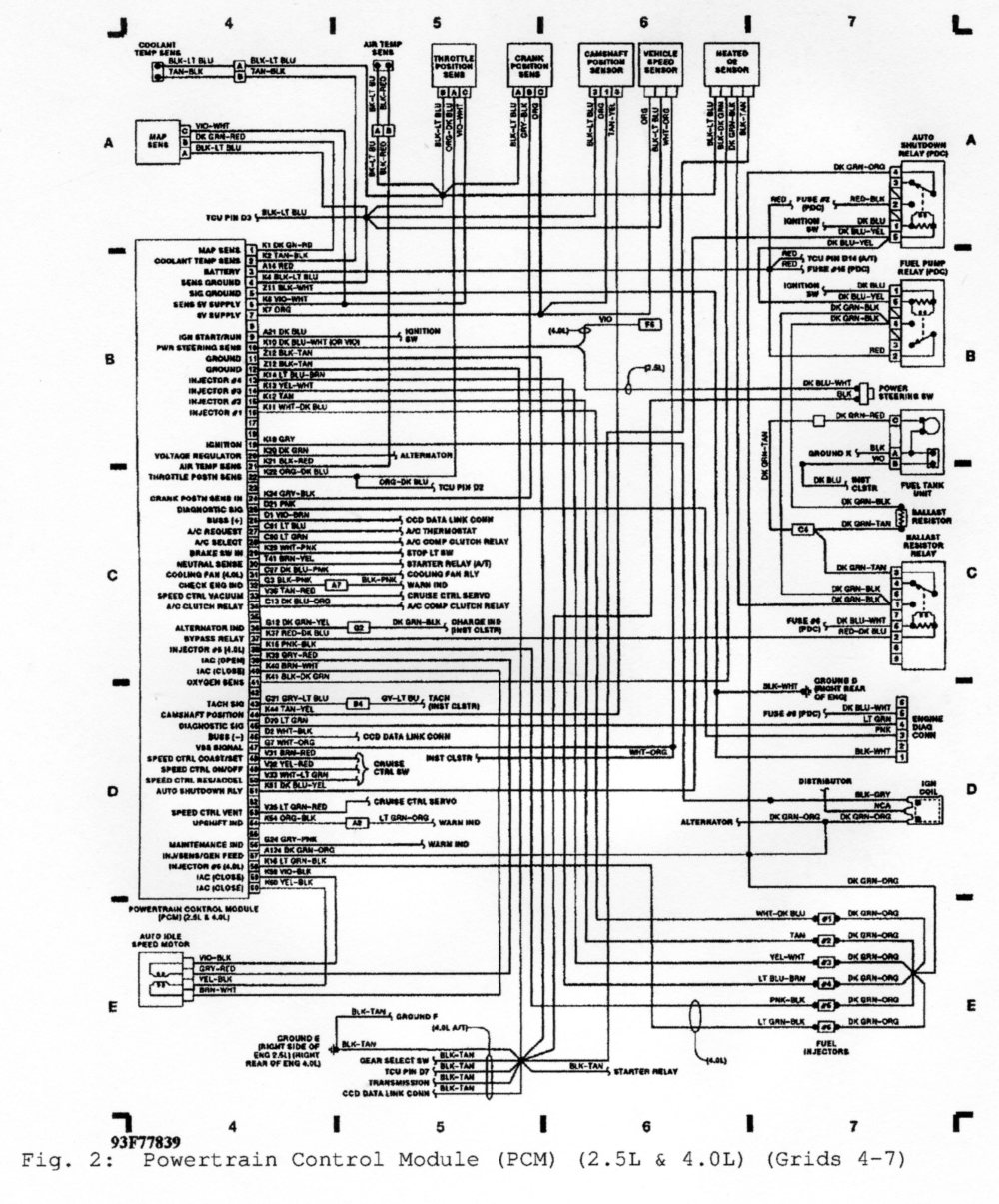 medium resolution of 1992 pcm wiring diagram jeep cherokee forum1992 pcm wiring diagram
