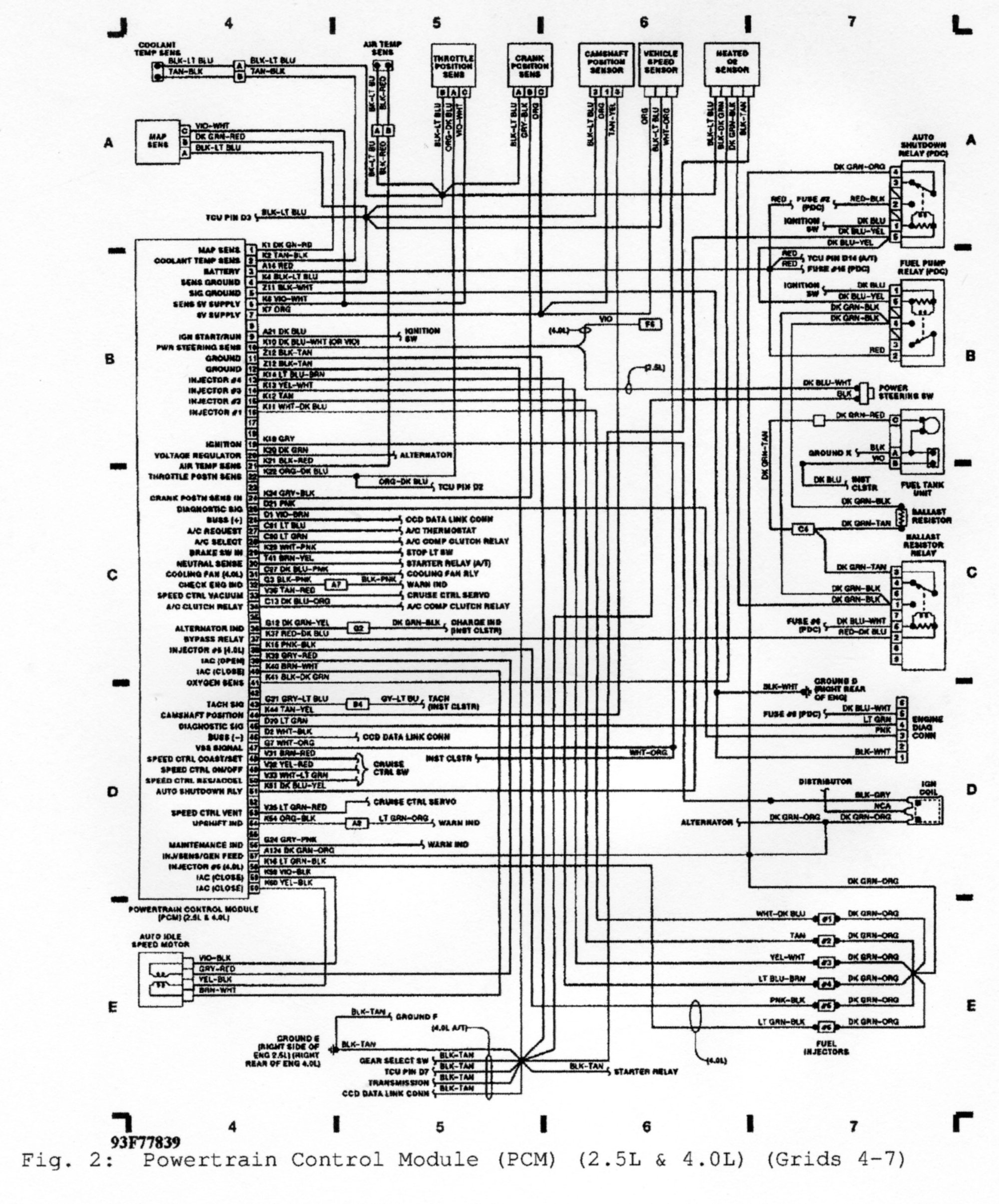 hight resolution of 1992 pcm wiring diagram jeep cherokee forum1992 pcm wiring diagram