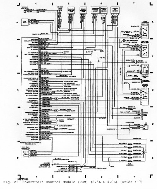 small resolution of 1992 pcm wiring diagram jeep cherokee forum1992 pcm wiring diagram