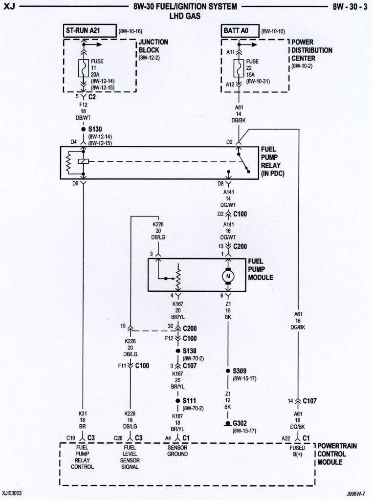 jeep cherokee fuel pump wiring diagram