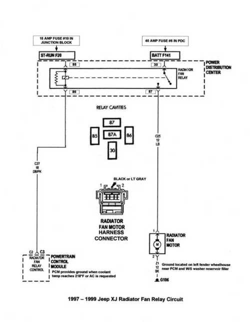 small resolution of 2000 jeep cherokee cooling fan wiring diagram
