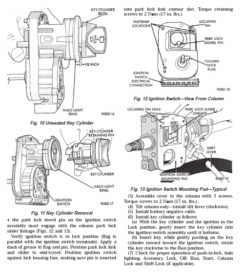 Service manual [2009 Jeep Grand Cherokee Ignition Lock