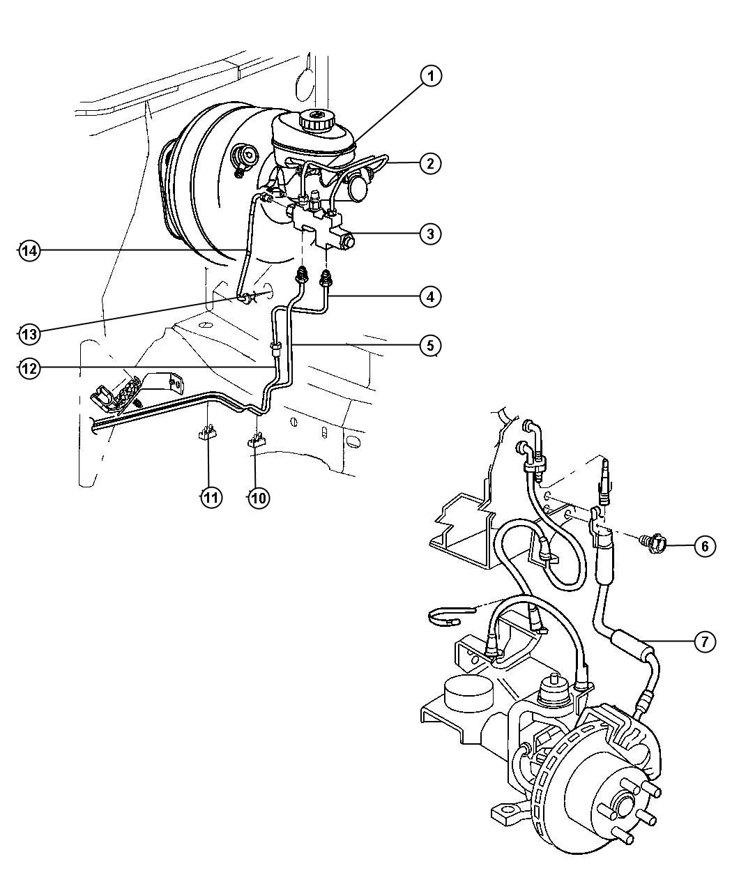 1996 Jeep Cherokee Brake Proportioning Valve Diagram