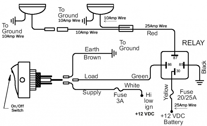 12v fan relay wiring diagram schematic