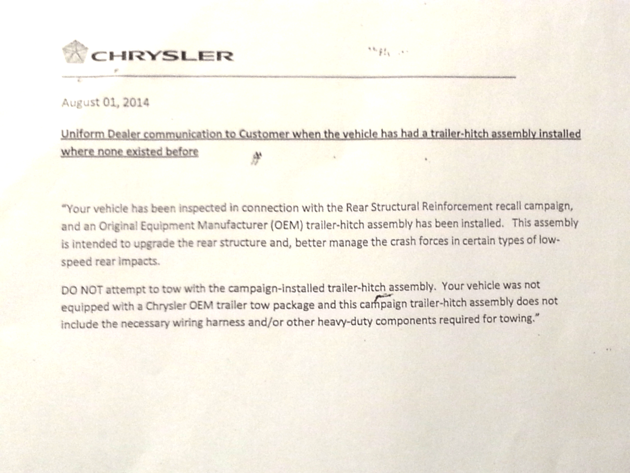hight resolution of 2004 grand cherokee hitch issue chrysler oem hitch letter png