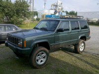 Homemade Roof Rack With 4 KC Lights - Jeep Cherokee Forum