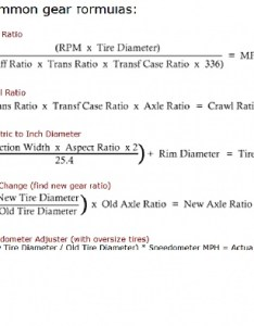 Gear ratio  amp tire size chart  also jeep cherokee forum rh cherokeeforum