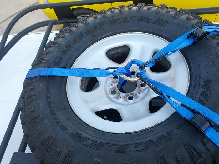 DIY Roof Rack Tire Carrier