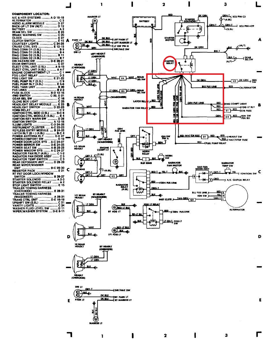 jeep zj 5.2 wiring diagram