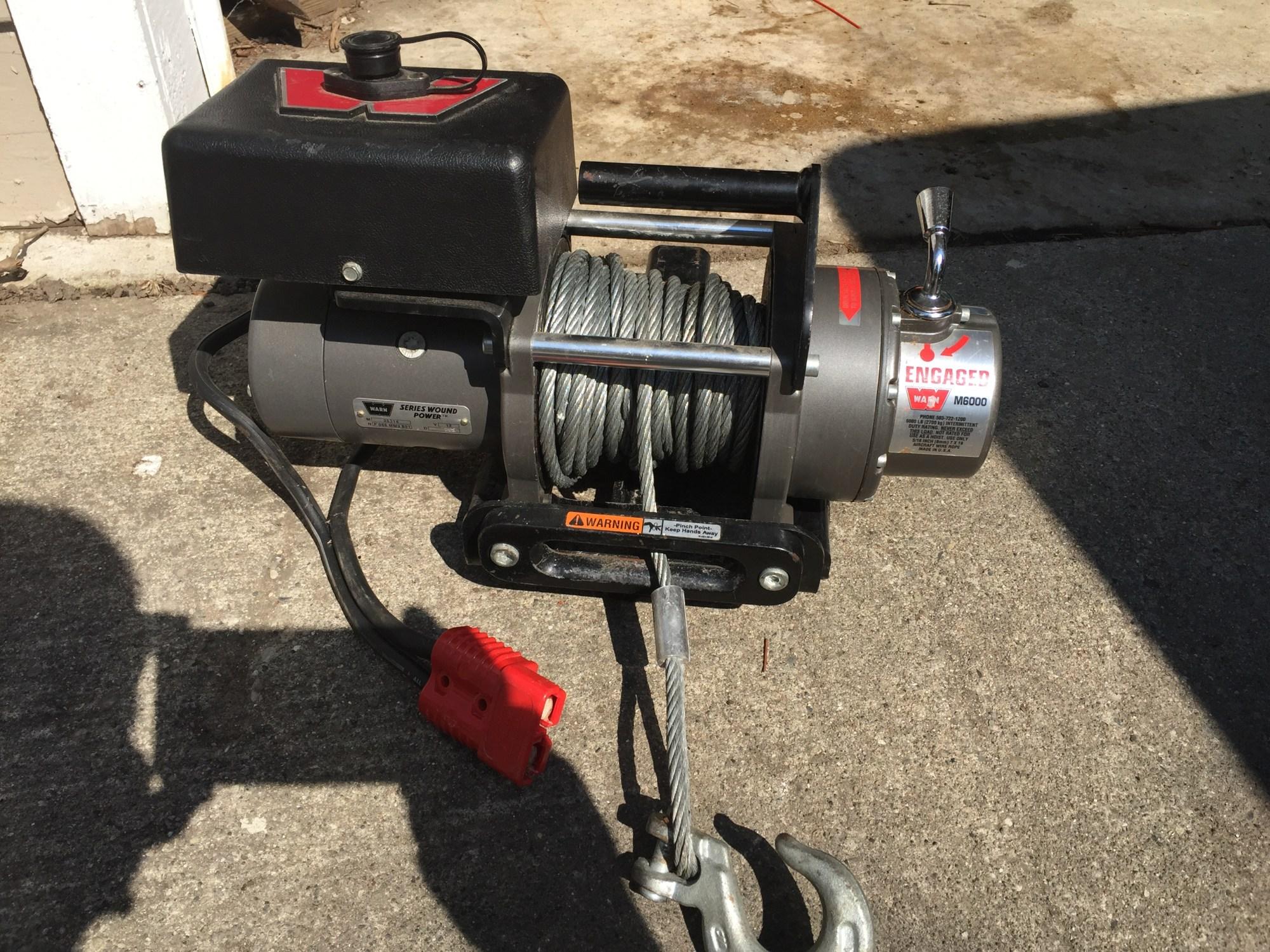hight resolution of warn m6000 sdp short drum portable 350 00