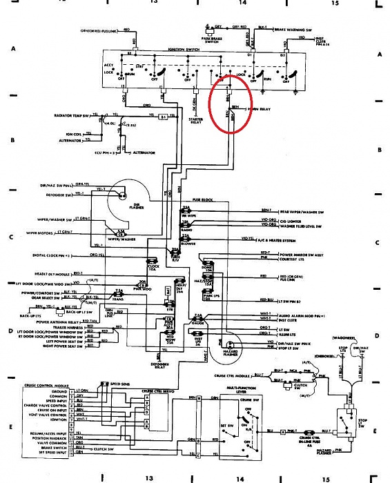 1988 Jeep Cherokee Ignition Switch Wiring Diagram Wiring