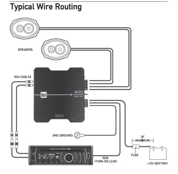 Dual Car Amplifier Wiring Diagram As Well As Car Stereo Color Wiring