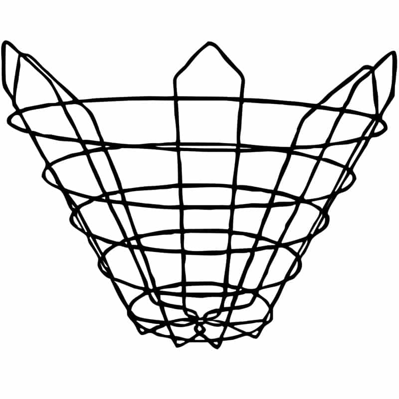 Cone (closed-bottom, 30 degree) Wire Tree Basket