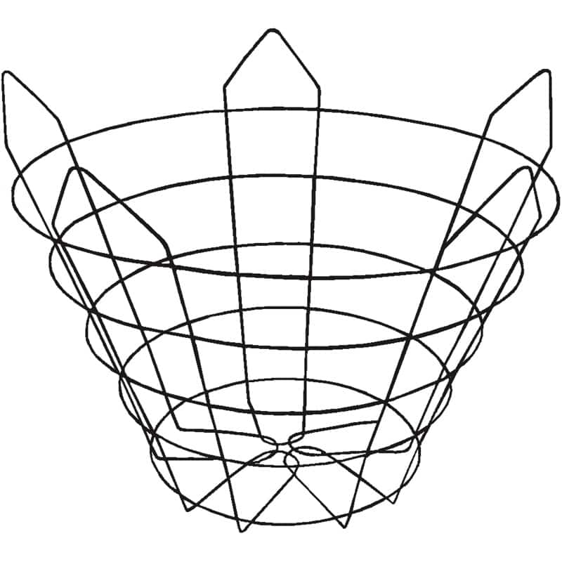 Truncated (closed-bottom, 22 degree) Wire Tree Basket