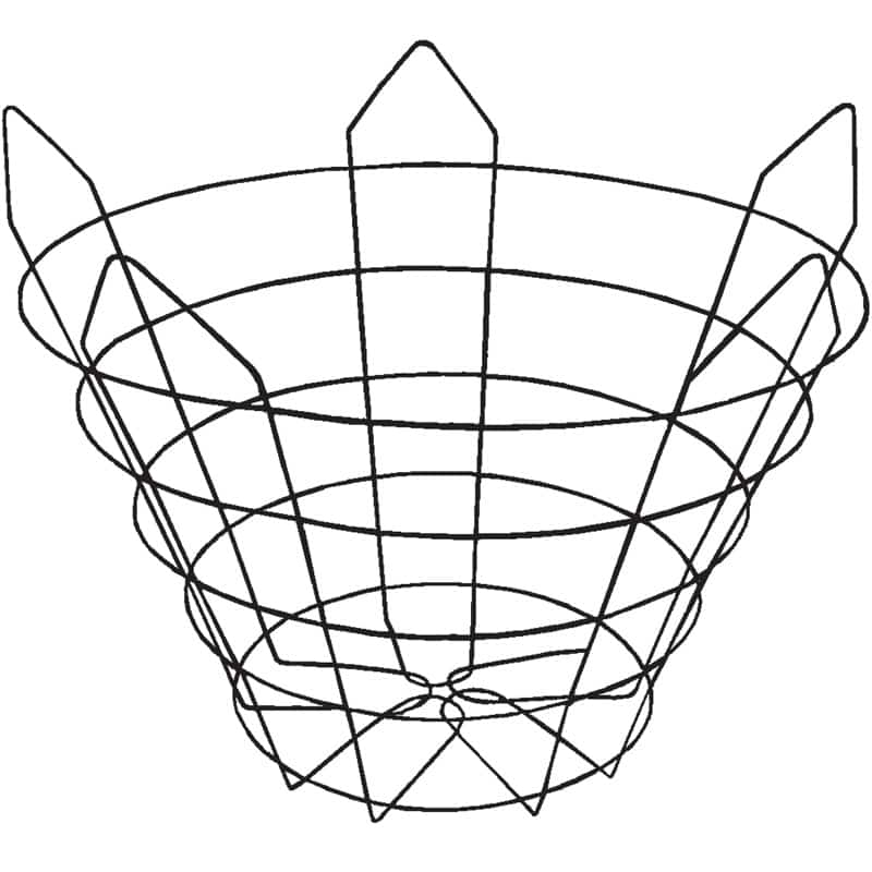 Modified (closed-bottom, 25 degree) Wire Tree Basket