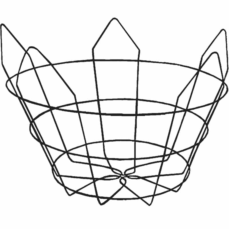 Modified-Short (closed-bottom, 25 degree) Wire Tree Basket